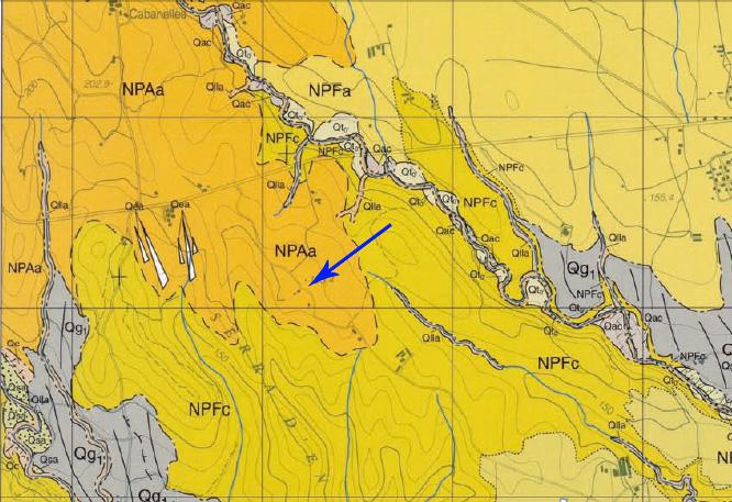 Detalle Mapa geológico 1:25.000